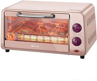 L.TSA Mini Horno de Cocina doméstico de 10L con Ajuste de Temperatura 0-230 ° C y temporización de 0-30min Horno multifunción de 800W con Doble Puerta de Vidrio