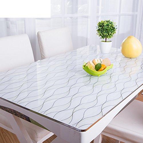 Protector de escritorio de PVC grueso de 1.5 mm personalizado Protector de escritorio transparente de cristal Cubierta de mesa de plástico Protector de mesa de vinilo rectangular-p 80x120cm(31x47inch)