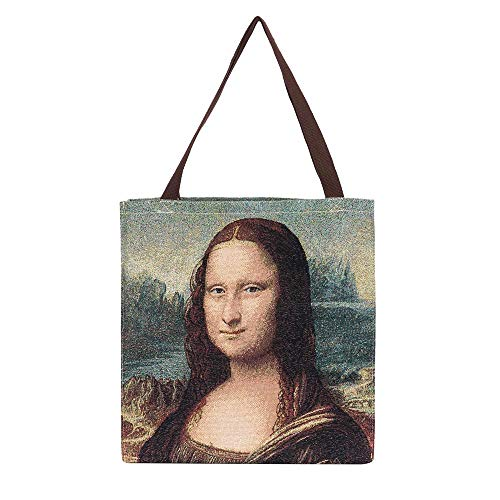 Signare Tapestry Borse Donna ispirate a Leonardo da Vinci, Mona Lisa, (Mona Lisa), Taglia unica