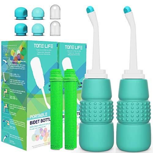 2 Stk Peri Flasche 350 ml für Erwachsene und Kinder nach der Geburt, Reise-Bidet – tragbarer Bidet-Sprüher – Hand-Bidet für Toilette
