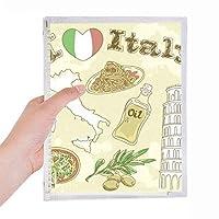 イタリア景色ピサの斜塔 硬質プラスチックルーズリーフノートノート
