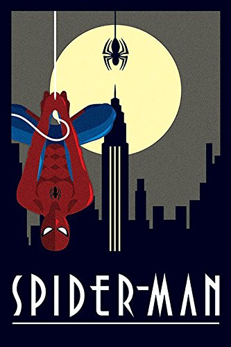 Marvel - Deco - Spiderman Hanging - Comic Poster - Größe 61x91,5 cm