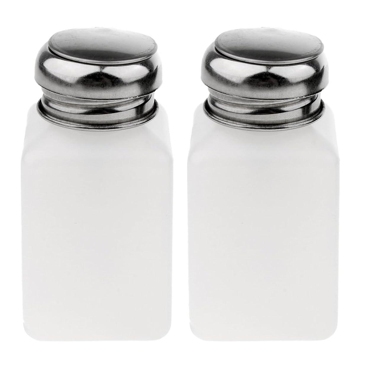 適切にぺディカブキウイエッセンシャルオイル、ローション、リキッドソープに最適なホワイトスクエアボトルステンレススチールパンプス(2パック) - 200ミリリットル