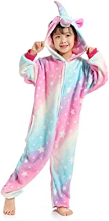 Kids Unicorn Onesie Cartoon Pajamas Sleepwear One-Piece Birthday Gift