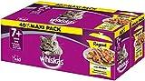 Whiskas Ragout 7 + Katzenfutter, Hochwertiges Nassfutter für gesundes Fell, Feuchtfutter in verschiedenen Geschmacksrichtungen