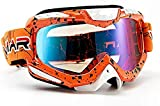 HXJZ Gafas de Motocross Moto de la Motocicleta de los Hombres de los vidrios Casco Off-Road Dirt Bike ATV MX BMX DH MTB Gafas Gafas de Motocross Ultra-ventilado 830 (Color : Speckledorange)