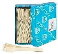 gräwe® - forchette usa e getta in bambù, 100 pezzi