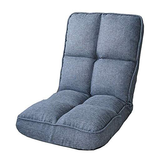 XHLLX Faule Sofa Klappstuhl Bequeme Ohne Beine 5-Gang Adjustment Lässige Faltbare Computer Stuhl Einfach Zu Entfernen Und Waschen Schlafzimmer Wohnzimmer Lounge Chair,E
