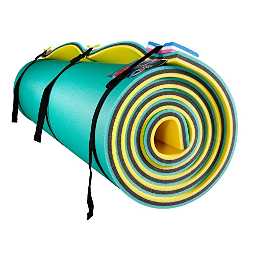 Fun Float Floating Water Mat, 18x6 feet,Swimming Island,Aqua Pad,Used in Lake,Pool,on Beach,for Relax, Vacation,Water Activities,Sports,Recreations,Parties,with Mooring Tool,Rolled Packed,XL