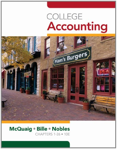 College Accounting, Chapters 1-12 (Available Titles...
