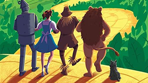 2021 5D Pintura de Diamante, The Wizard of Oz Poster,DIY Diamond Painting Kits de Arte Diamantes de Taladro Completo Bordado Punto de Cruz, Halloween Decoración de la Pared 40x60cm