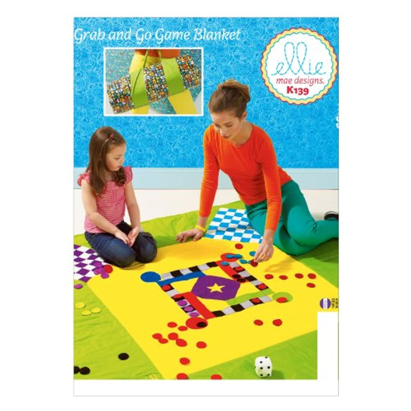 KWIK-SEW PATTERNS K0139OSZ Game Blanket Sewing Template, One Size Only