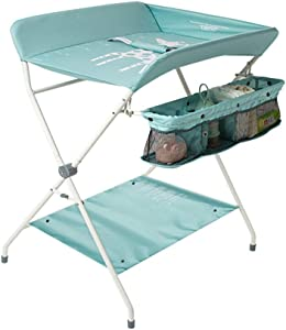 DLYET Changing Table Dresser and Storage  Foldable Multifunction Nursing Desk Change Diapers  Care Massage  Organize Storage for Boy and Girl Green