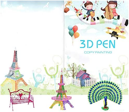 3D Printer Drawing Template Paper Printing Paper Painting Graffiti Template for 3D Pen Kids product image