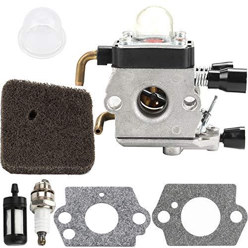 Hipa Carburetor + Spark Plug + Fuel Filter + Air Filter + Primer Bulb for STIHL FS38 FS45 FS45C FS45L FS46 FS46C FS55 FS55C FS55R FS55RC KM55 HL45 String Trimmer