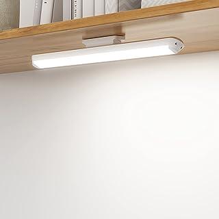 SOAIY LED Lampe Dimmable de Placard 34cm, Applique Murale Tactile et Rechargeable, Lumière Réglette Led Ajustable sous Meu...