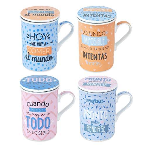 Decor And Go Taza Mug Para Te Incluye 4 Unidades Cocina Mugs Y Vasos Colección Te
