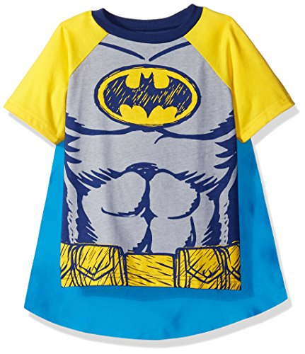 Warner Bros. Bambino DC Comics Costume Bambino - Batman T-Shirt con Mantello, Giallo 2 Anni
