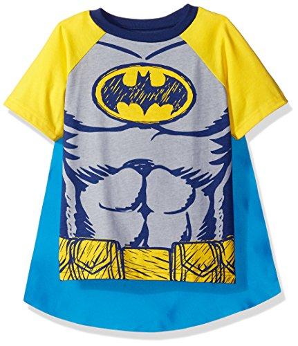DC Comics Camiseta de Manga Corta de Supermán con Capa - Disfraz Friki Divertido para Niños, Azul 3 Años