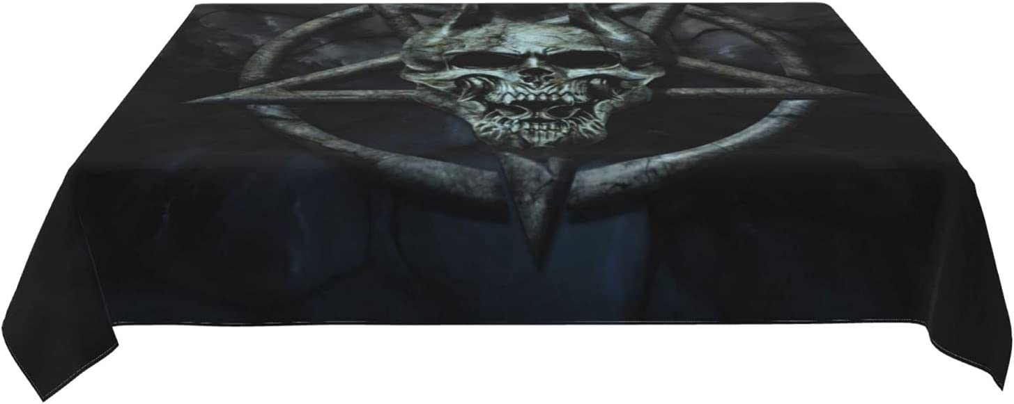 Roechneck Fivepointed Star Skull Tableclothsà Waterproof Memphis Brand new Mall Design