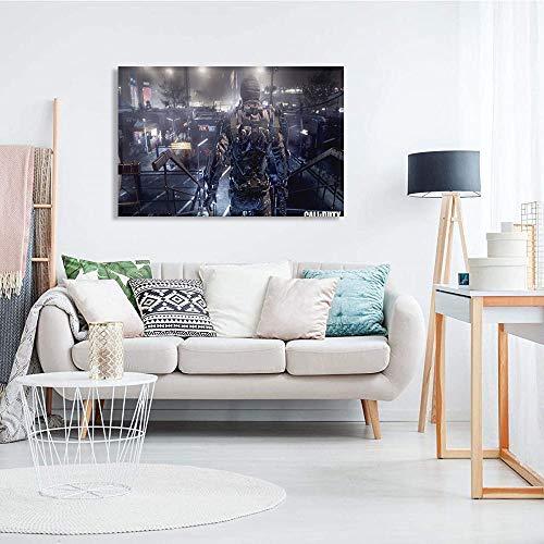 Cuadro Impreso Lienzo Moderno Call of Duty: Advanced Warfare Cartel abstracto impreso personaje del juego Hermoso arte enmarcado de sala de estar y dormitorio 61x41cm(24x16in)