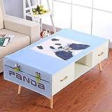 YCZZ Mantel, Mantel de Lino y algodón para el hogar, Mantel Rectangular para Mesa de Centro de impresión Digital Los 70 * 180cm Mantel Panda Mimi