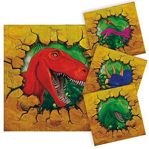 Folat B.V. Nuevo Servilletas Dino Party, Aprox. 25 x 25 cm