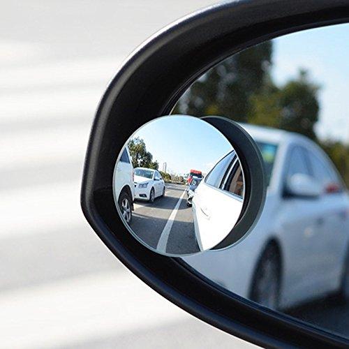 JenNiFer Auto-Spiegel-Blinder Stellen-Spiegel-Weitwinkel Runder Konvexer 360 Grad Für Das Parken Der Hinteren Ansicht Mrror