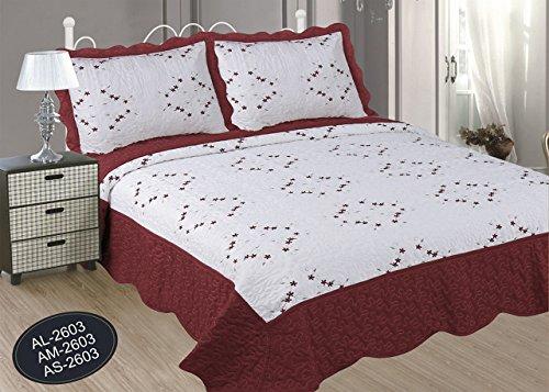 ForenTex- Colcha Boutí Cosida y Bordada, (AS-2603), cama 90 y 105 cm,...