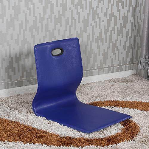 Zitting vloerstoel met rugsteun, leer, beenloze vloerstoel, Japans gevoerde luifel sofa vloer bekleding rugleuning voor lezen en spelletjes kijken
