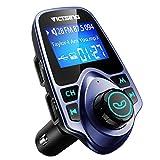 VicTsing Transmetteur FM Bluetooth Kit de Voiture sans Fil Mains-Libres Adaptateur Radio avec Chargeur Voiture Double Port USB et...