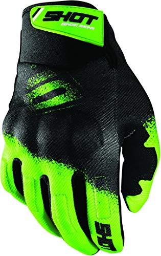 Shot Drift Smoke Motocross Handschuhe Schwarz/Grün 11