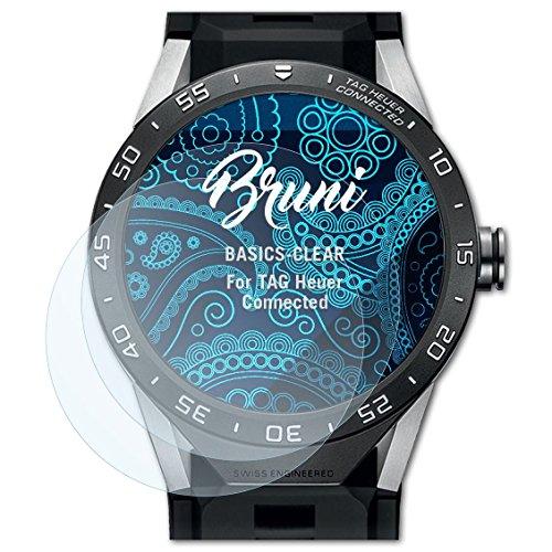 Bruni Schutzfolie kompatibel mit Tag Heuer Connected Folie, glasklare Bildschirmschutzfolie (2X)