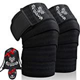 Gooda Grip Knee Wraps – Compression Wraps for Knees, 1 Pair – 74 in. Support Wraps for Men and...