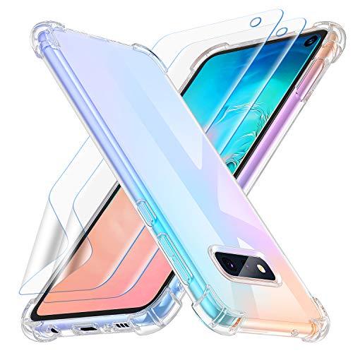 Losvick Coque pour Samsung Galaxy S10e, 2 Pack Protection d'écran en TPU, Clear Silicone Souple Protection Housse Ultra Slim Matériau TPU, Antichoc Bumper Etui pour Galaxy S10e -Transparent