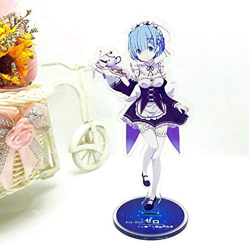 Ailin Online Re: Zero - Starting Life in een andere wereld staande figuur, 6 inch Anime Kawaii Acryl Bureau Stand Miniatuur voor Home Decor Stijl 03