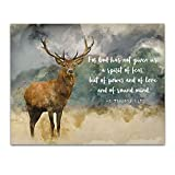 2 Timothy 1:7'For God Has Not Given us a Spirit of Fear, But of Power.' Bible Verse Wall Print- Unframed 11 x 14 Watercolor Print - Inspirational Gift for Family & Friends