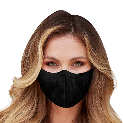 Gokeop 1Pcs Fashion Cotton with 2Pcs Filter Pads StyleA 5-Layers Filtering Protection Mouth and Nose Protection for Outdoor and Home Use