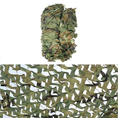 ACZZ Woodland Camo Netting, 6X7M(20Ft X 23Ft) Sunshade s Green Camo Netting Decoration Sunshade Netting Customizable),1.5 * 3(5ft * 10ft)