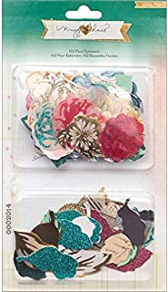 Crate Paper 683580 Maggie Holmes Open Book Floral Ephemera for Scrapbooking