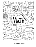 Math Notebook: 1/2 inch Square Graph paper pages and White Paper...