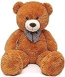 FSN Oso de Peluche Gigante Grande Teddy, 100cm Osito Suave y Cariñoso para Niños y Adultos (Marrón Oscuro)