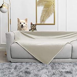 fuguitex Waterproof Dog Blanket for Bed Fleece Pet Blanket Bed Cover for Dog Throw Blanket for Couch Sofa