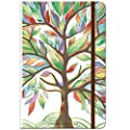 """Journal/Ruled Notebook - Hardcover Ruled Journal with Premium Thick Paper, 5.5"""" x 8.4"""", Back Pocket + Bookmark + Round Corner Paper + Banded - Watercolor Tree"""