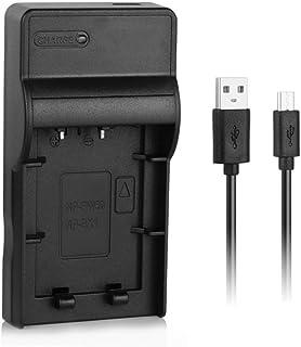 NP-BX1 Cargador rápido USB para batería de cámara Sony BX1 / M8 Cyber-Shot DSC-RX1R RX1R II RX100 RX100M II RX100III IV V HX300 HX400 H400 HX60 HX90 WX500 AS10 AS100VR más cámaras