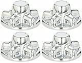 BA Products Set of 4 - Phoenix QT545CHS-x4, ABS Chrome Plated Wheel Cover, HUB Cap FITS Trailer Wheels with 5 Lug Nuts on 4.5 INCH Bolt Pattern