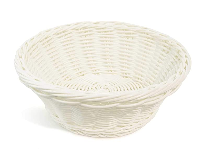 Colorbasket Hand Woven Waterproof Round Basket, White, White