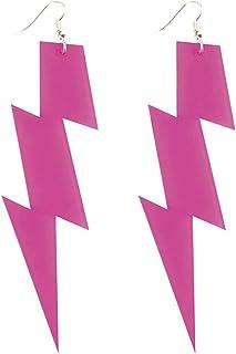 Boland 64469 Paar Ohrringe Flash, Damen, Pink, Unica