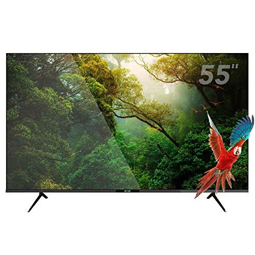 Evvo Smart TV Android 55 UHD 4K - 55 Pulgadas, Dolby Vision HDR, Chromecast Incluido, Bluetooth 5.0