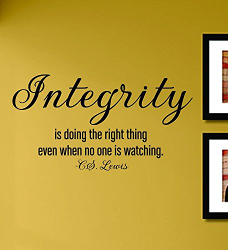 Integrity Is Doing the Right Thing Even When No One Is Watching Vinyl Wall Decals Quotes Sayings Words Art Decor Lettering Vinyl Wall Art Inspirational Uplifting